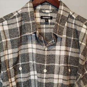 EXPRESS Long-Sleeved Flannel Shirt